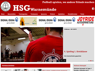 Homepage HSG Warnemünde Fussball